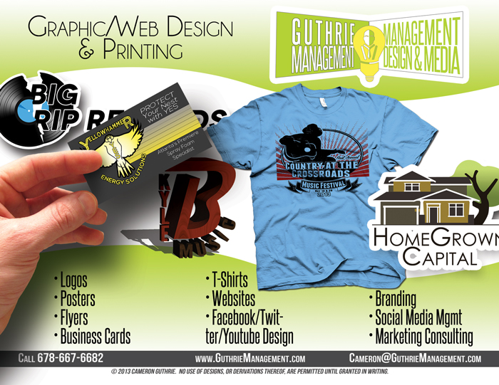 Guthrie Management Graphic and Web Design and Printing. Professional design.
